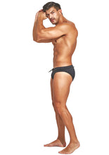 Load image into Gallery viewer, Studmuffin NYC x Hercules New York Spike Speedo - Black on Black Outline