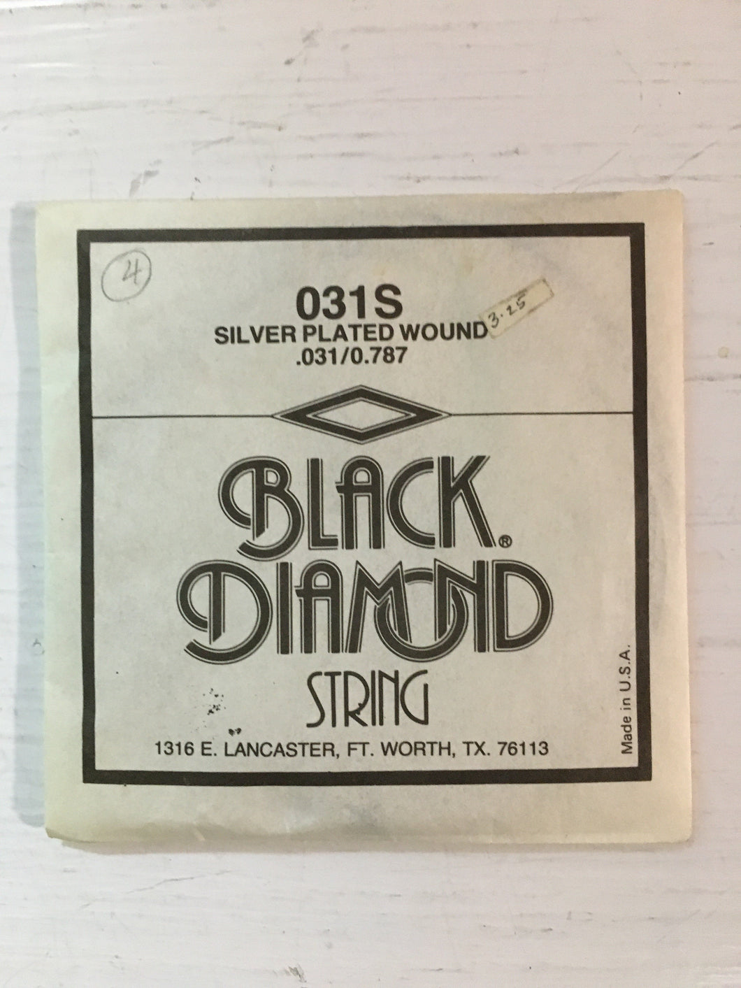 Acoustic Single Strings - Black Diamond Silver Plated Wound D String (.031)