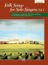 Load image into Gallery viewer, Folk Songs for Solo Singers Med Low, Edited by: Jay Althouse