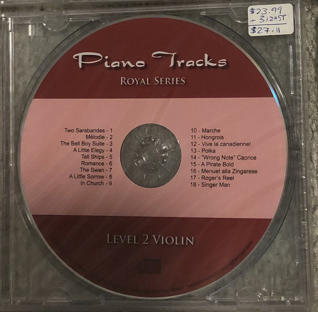 Piano Tracks Royal Series for Violin - Gr. 2 released 2007