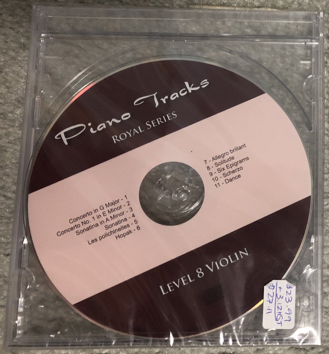 Piano Tracks Royal Series for Violin - Gr. 8 released 2007