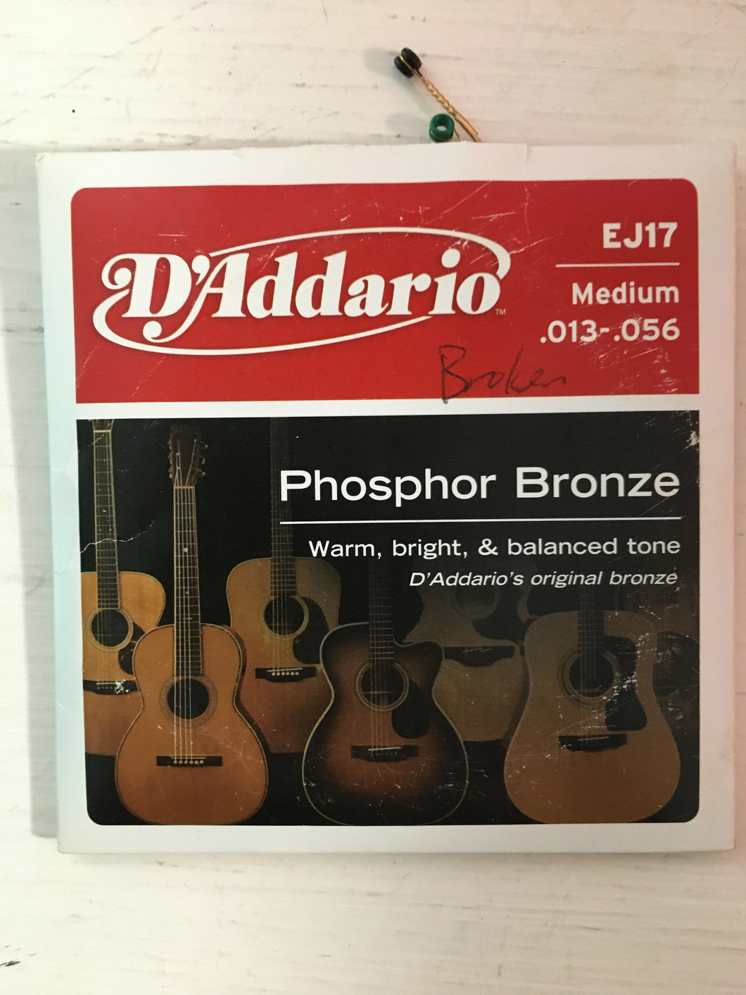 Acoustic Single Strings - D'Addario EJ17 B String