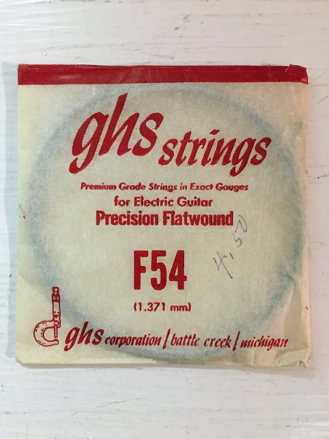 Electric Single Bass Strings - GHS Strings Precision Flatwound (1.371mm)