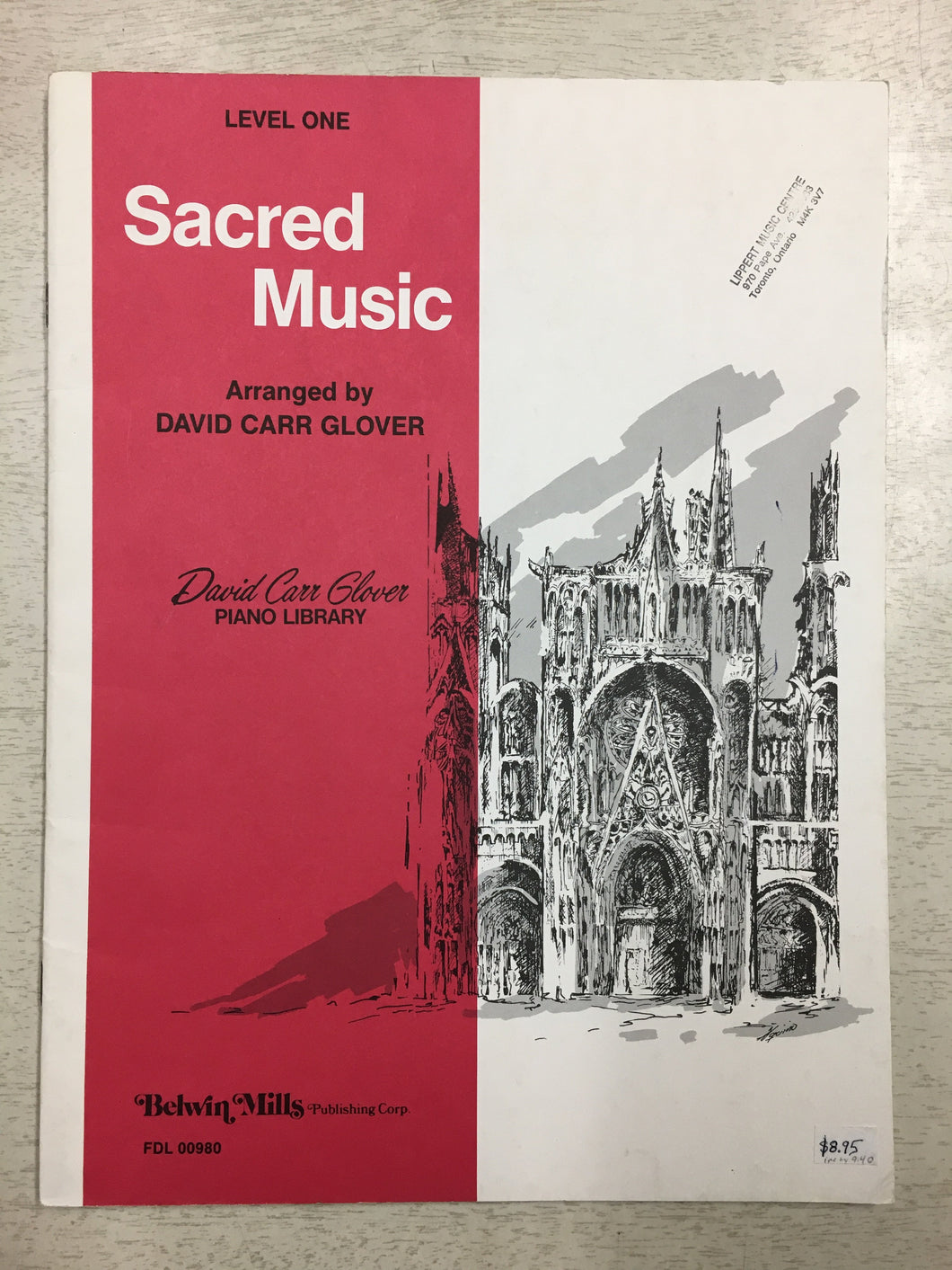 Sacred Music Level One, David Carr Glover