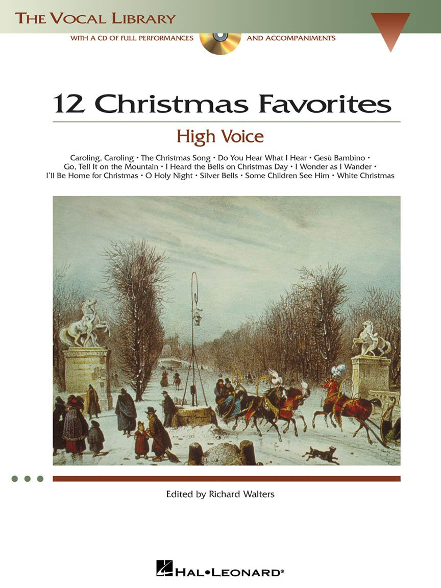 12 Christmas Favorites with CD - High Voice, Richard Walters
