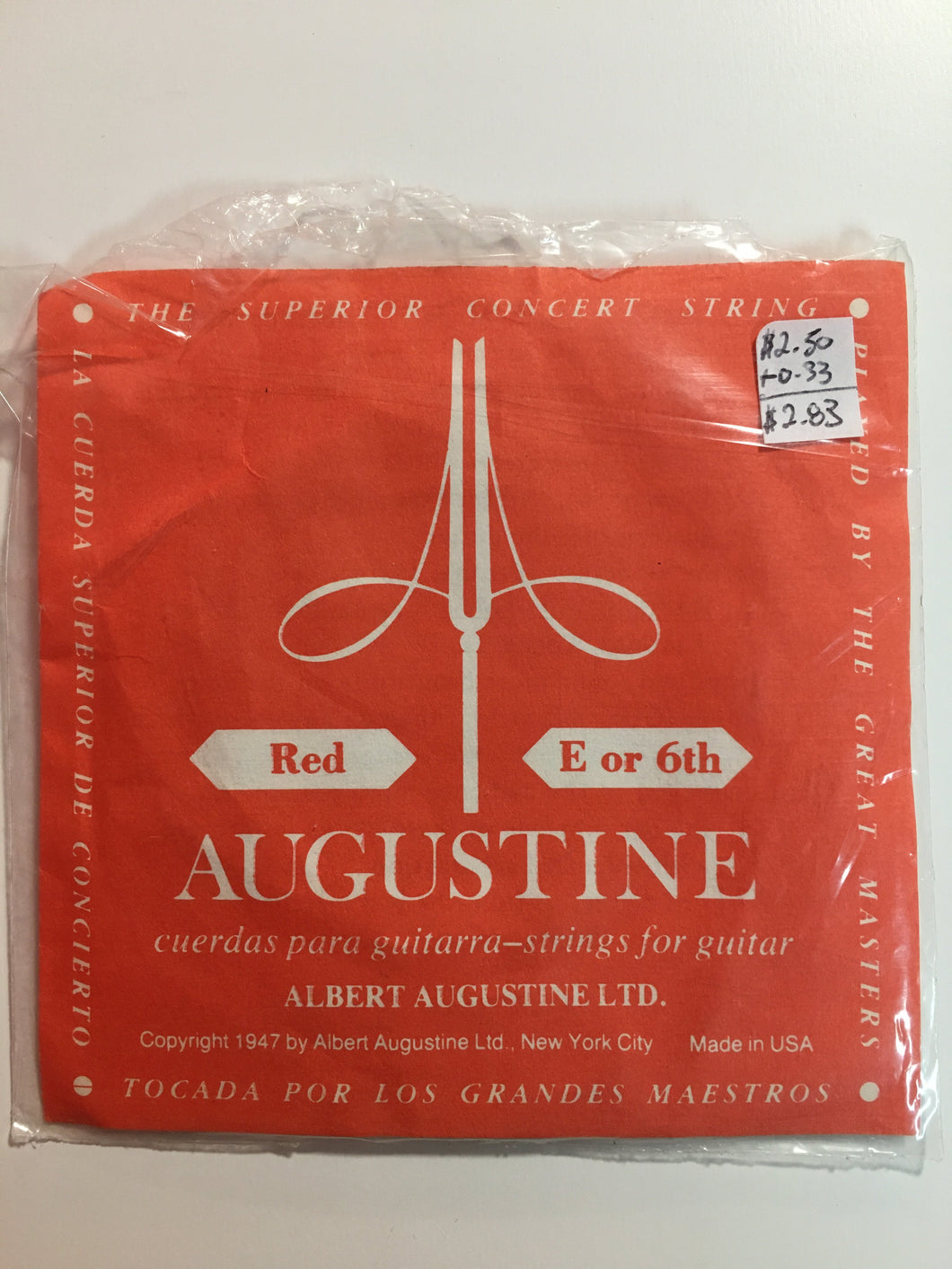 Classical Single Strings - Augustine Red E/6th