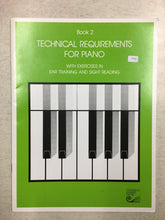 Load image into Gallery viewer, RCM Technical Requirements For Piano Grade 2 with Ear Training and Sight Reading Exercises (1984)