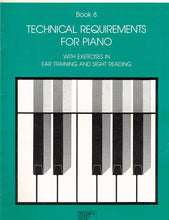 Load image into Gallery viewer, RCM Technical Requirements For Piano Grade 8 with Ear Training and Sight Reading Exercises (1984)