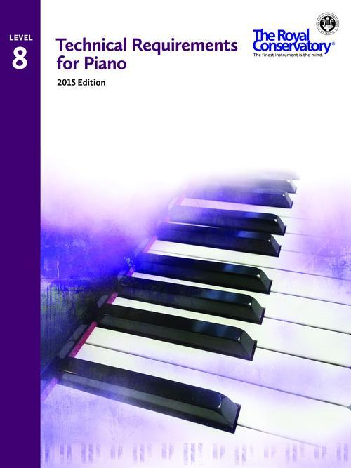 Technical Requirements 2015 for Piano Level 8