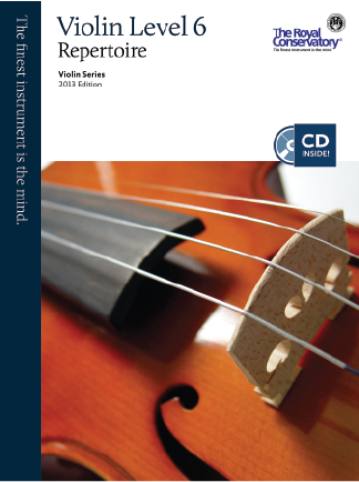 RCM Violin Repertoire Gr.6 2013 with CD