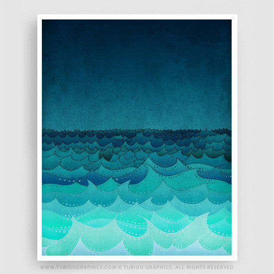 """There is peace even in the storm""  ― Vincent Van Gogh ― ""Storm in my Soul"" - This Fine Art Print can be a great addition for decorating your home or office. Find it on https://www.tubidugraphics.com/collections/nature-illustrations/products/storm-in-my-soul"
