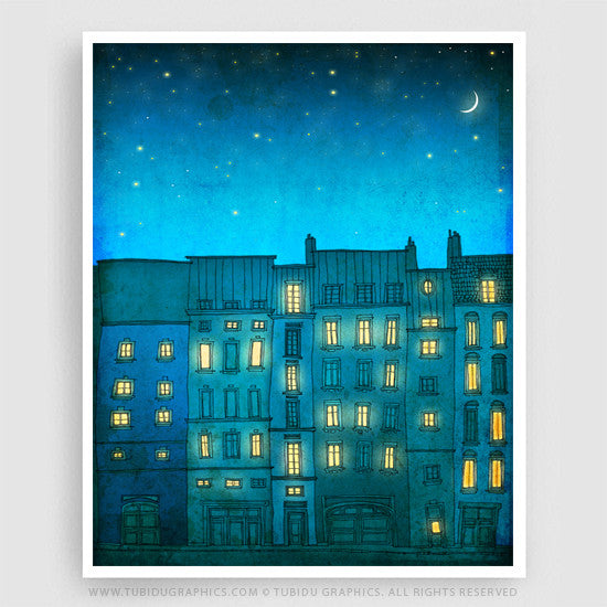 Don´t wait until your next trip to Paris! Complete your Home decor with this beautiful Fine Art Print! Find it on https://www.tubidugraphics.com/collections/paris-illustration/products/you-are-not-alone