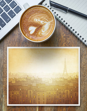 Paris art print // Morning hope // Bring more light into your home!