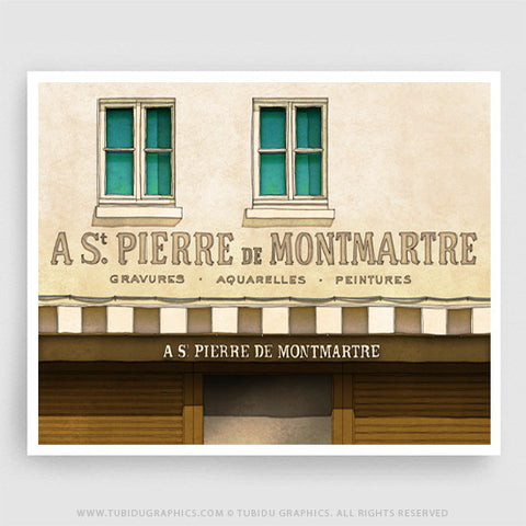 St Pierre de Montmartre- Wall paintings inspired from famous places in Paris