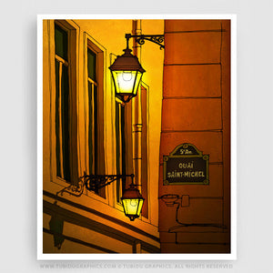 This stunning colorful Paris illustration will take your Paris decoration to the next level! It's a great addition for decorating a home or office. Find it on https://www.tubidugraphics.com/collections/paris-illustration/products/alleyway #Paris #Travel #Homedecor