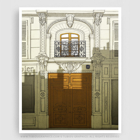 Fight for the light- Beautiful Paris illustrations exclusive from Giclee print open edition