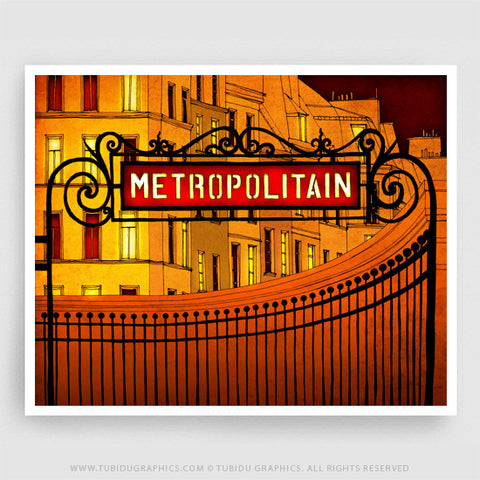 Metropolitan- Exclusive fine arts featuring a busy, metropolitan life of Paris in 200 GSM paper