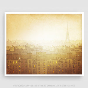 Paris art print // Morning hope // Bring light into your home!