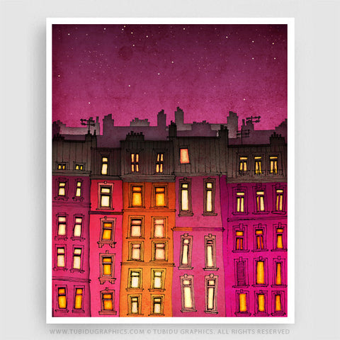 Red Facade- Vivid and colourful paintings for budget interior makeover inspired from Paris