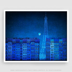 THE LIGHTS OF THE EIFFEL TOWER - LANDSCAPE VERSION