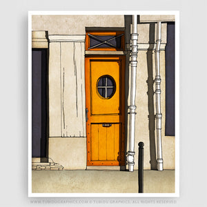 Secret Door- Latest Paris inspired paintings with vivid colours on 200 GSM paper
