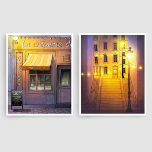 SET OF TWO PARIS ILLUSTRATION PRINTS (TS202)