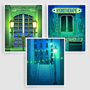 SET OF THREE PARIS ILLUSTRATION PRINTS (TS301)