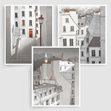 SET OF THREE PARIS ILLUSTRATION PRINTS (TS306)