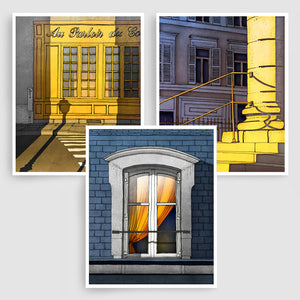 SET OF THREE PARIS ILLUSTRATION PRINTS (TS305)