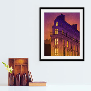 Boulevard de magenta- Metropolitan themed artwork inspired from daily life of Paris printed on 200 GSM paper