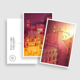 PARIS POSTCARD SET - RED
