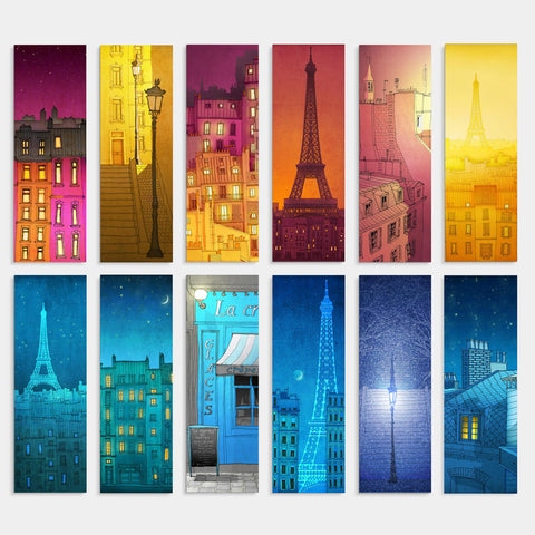 PARIS BOOKMARKS - SET OF 12