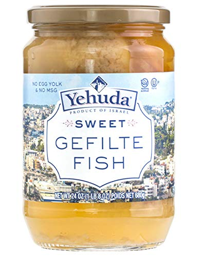 Yehuda Sweet Gefilte Fish, 24oz (2 Pack) Kosher for Passover