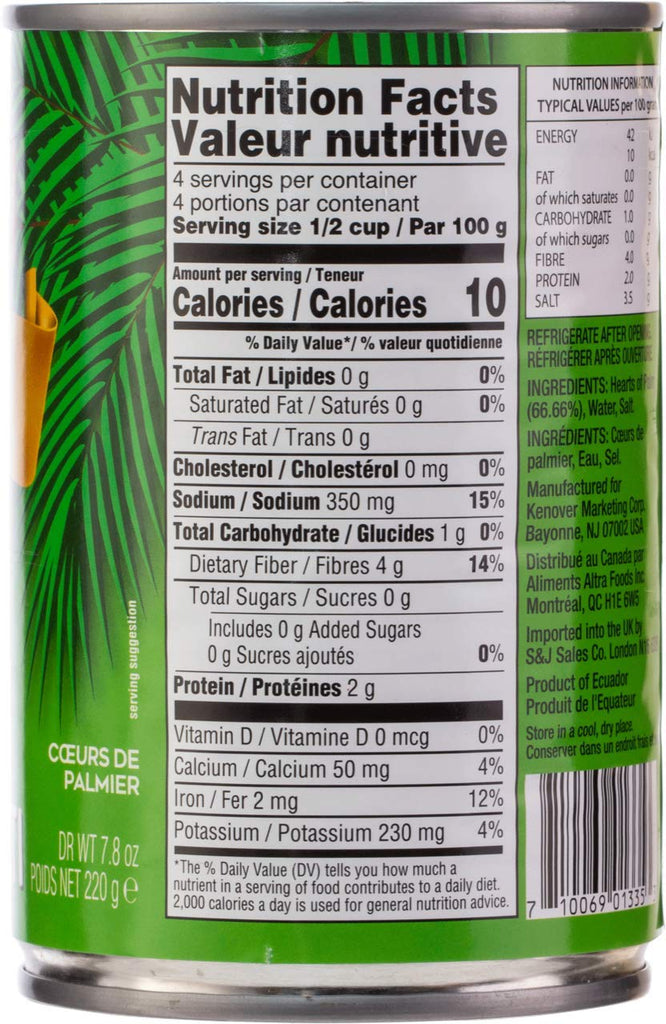 Gefen, Hearts of Palm Spaghetti Noodles, 14oz (4 Pack) Gluten Free Low Carb Pasta