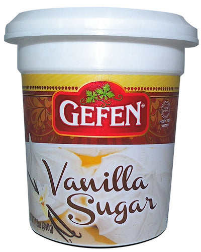 Gefen Vanilla Sugar, 12oz, (2 Pack), Resealable Container, Measuring Scoop Included