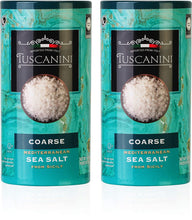 Load image into Gallery viewer, Tuscanini, Coarse Mediterranean Sea Salt, 16oz, From Sicily Italy, (2 Pack), Total of 2LB