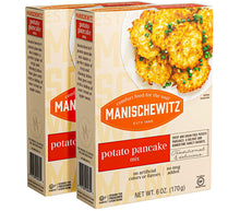 Load image into Gallery viewer, Manischewitz Potato Pancake Mix 6oz (2 Pack) Gluten Free, No MSG, Traditional Style