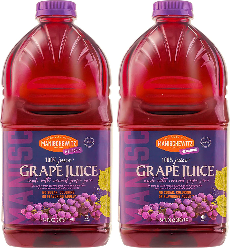 Manischewitz 64oz Concord Grape Juice (2 Pack)
