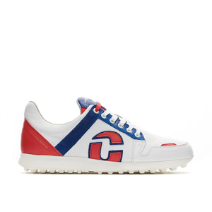 Rebel Wit/Rood Heren Golf Schoen