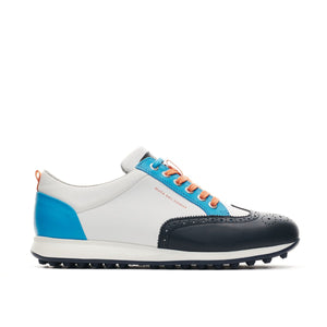 KLM Open Camelot Wit/Blauw Heren Golf Schoen