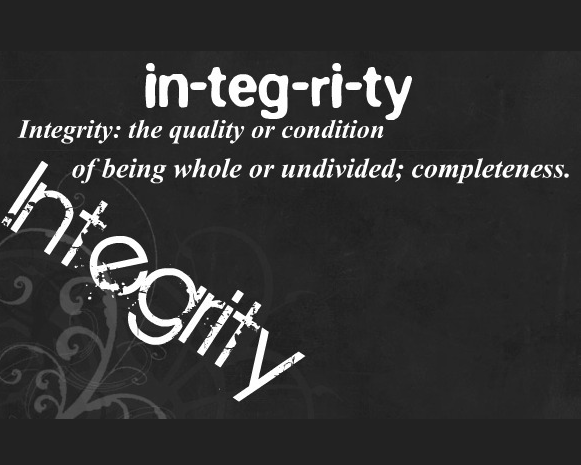 Integrity...Walking it Out