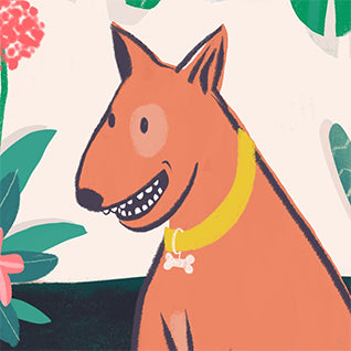Pup in Plants Pet Portrait