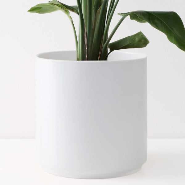 Large indoor ceramic planters for indoor plants - Peach and Pebble