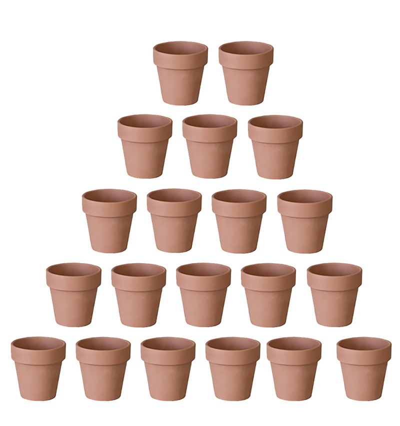 "2"" small bulk terracotta pots. Cheap clay pots for succulents and cacti"