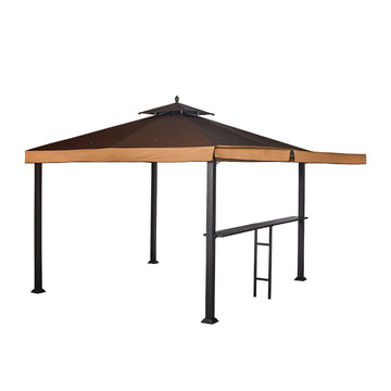 10' x 10' Conley Gazebo with Awning and Bar