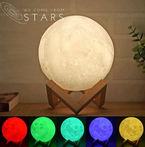 Open image in slideshow, Moon LED Lamp, 16 Adjustable Colors
