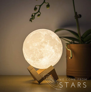 Open image in slideshow, Moon LED Lamp, Adjustable Light Color