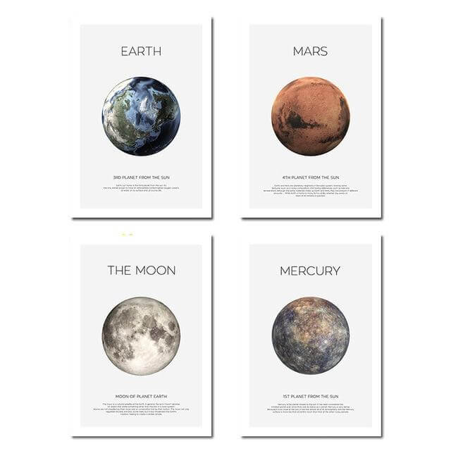 The Moon Wall Art Canvas Poster