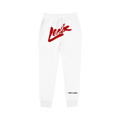 Tory Lanez Loner White Fleece Joggers