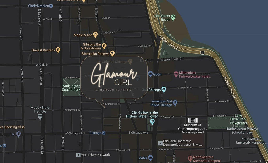Where We're Located - Glamour Girl Airbrush Tan